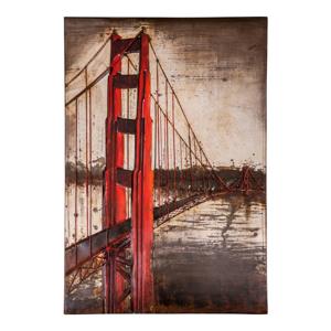 Plechová ceduľa Antic Line San Francisco, 80 x 120 cm
