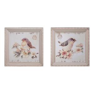 Set 2 ks obrázkov Antic Line Oiseaux, 27 x 27 cm