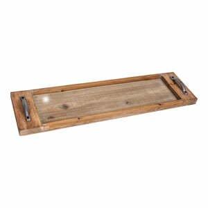 Podnos z jedľového dreva Antic Line Verre, dĺžka 76 cm