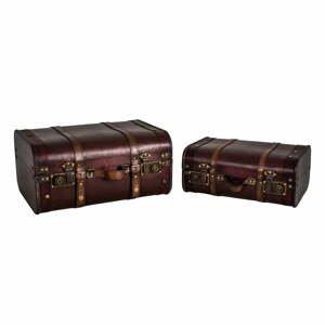 Sada 2 ks úložných kufrov Antic Line Cuir