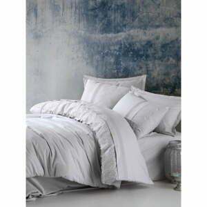 Svetlosivé bavlnené obliečky s plachtou Cotton Box Elba, 200 x 220 cm