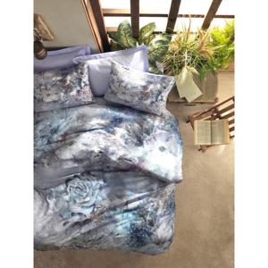 Obliečky z bavlneného saténu s plachtou Cotton Box Zaira, 200 x 220 cm