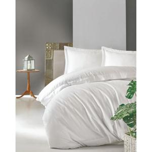 Biele obliečky z bavlneného saténu Cotton Box Elegant, 200 x 200 cm