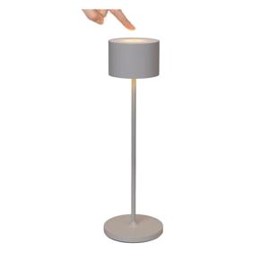 Svetlosivá prenosná LED lampa Blomus Farol