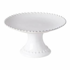 Biely kameninový podnos na tortu Costa Nova Pearl, ⌀ 22 cm