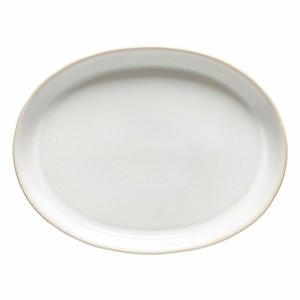 Biely kameninový servírovací tanier Costa Nova Roda, 34 x 24,7