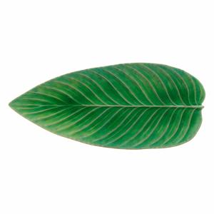 Zelený kameninový servírovací tanier Costa Nova Riviera, 40 x 17 cm