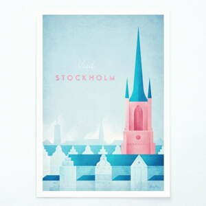 Plagát Travelposter Štokholm, A3