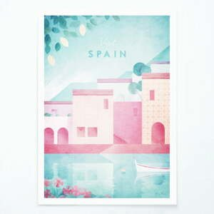 Plagát Travelposter Spain, A3