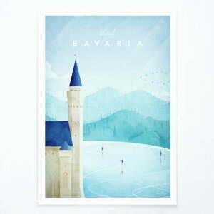 Plagát Travelposter Bavaria, A3