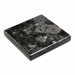 Čierny žulový podnos RGE Black Crystal, 15 x 15 cm