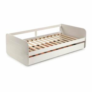 Biela detská posteľ s výsuvným lôžkom Marckeric Redona, 90 x 190 cm