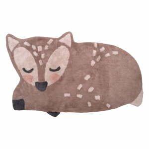 Detský bavlnený ručne vyrobený koberec Nattiot Deer, 70 x 110 cm