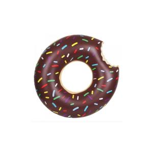 Hnedé nafukovacie koleso Gadgets House Donut, ⌀ 105 cm