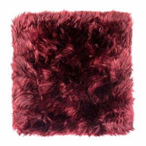 Červený vankúš na sedenie z ovčej kožušiny na jedálenskú stoličku Royal Dream Zealand, 40 x 40 cm