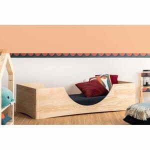 Detská posteľ z borovicového dreva Adeko Pepe Bork, 70 x 140 cm