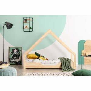Domčeková detská posteľ z borovicového dreva Adeko Loca Bon, 80 x 150 cm