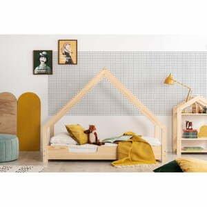 Domčeková detská posteľ z borovicového dreva Adeko Loca Cassy, 70 x 140 cm
