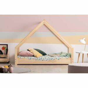 Domčeková detská posteľ z borovicového dreva Adeko Loca Dork, 90 x 180 cm