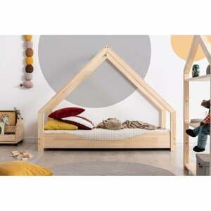 Domčeková detská posteľ z borovicového dreva Adeko Loca Elin, 100 x 140 cm