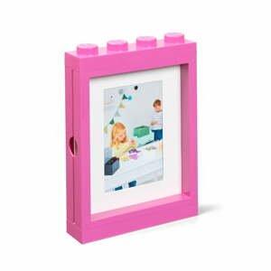 Ružový rámček na fotku LEGO®, 19,3 x 4,7 cm