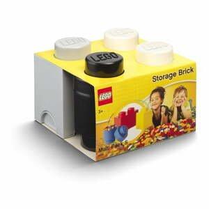Set 3 ks plastových úložných škatúľ na LEGO®, 25 x 25,2 x 18,1 cm