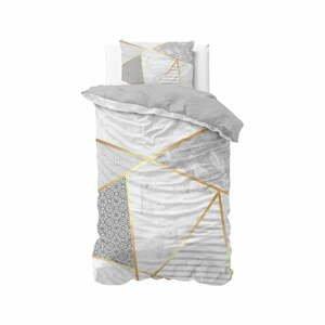 Bavlnené obliečky na jednolôžko Pure Cotton Graphic, 140 x 200/220 cm