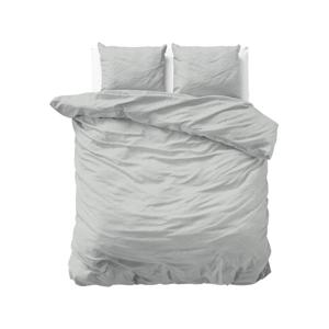 Svetlosivé flanelové obliečky na dvojposteľ Sleeptime Jason, 200 x 220 cm