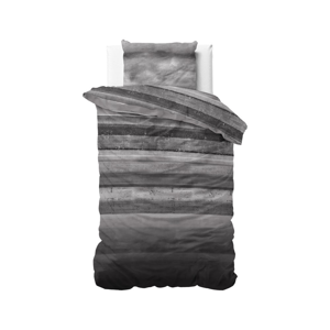 Sivé flanelové obliečky na jednolôžko Sleeptime Marcus, 140 x 220 cm