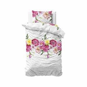 Flanelové obliečky na jednolôžko Sleeptime Love Garden, 140 x 220 cm