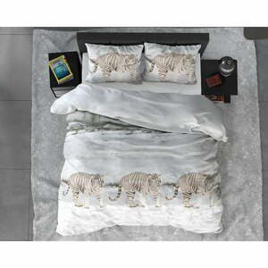 Flanelové obliečky na jednolôžko Sleeptime Winter Tiger, 140 x 220 cm