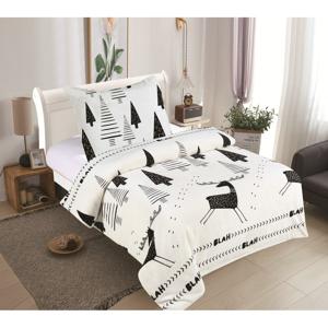 Mikroplyšové obliečky My House Rudolf, 140 x 200 cm