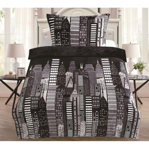 Mikroplyšové obliečky My House City, 140 x 200 cm