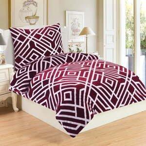 Mikroplyšové obliečky My House Labyrint, 140 x 200 cm