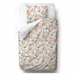 Obliečky z bavlneného saténu Butter Kings Pink Roses, 140 x 200 cm