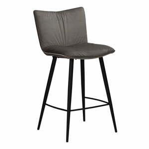 Sivá zamatová barová stolička DAN-FORM Denmark Join, výška 103 cm