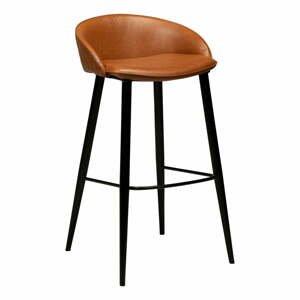 Hnedá barová stolička v imitácii kože DAN-FORM Denmark Dual, výška 91 cm