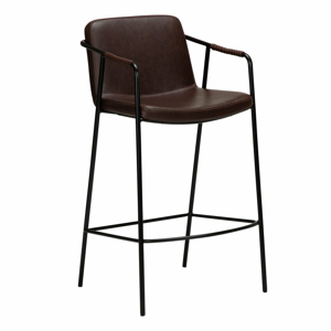 Tmavohnedá barová stolička z imitácii kože DAN-FORM Denmark Boto, výška 95 cm