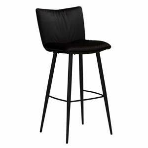 Čierna zamatová barová stolička DAN-FORM Denmark Join, výška 93 cm