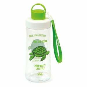 Zelená fľaša na vodu Snips Turtle, 500 ml