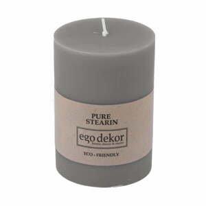 Sivá sviečka Baltic Candles Eco, výška 10 cm