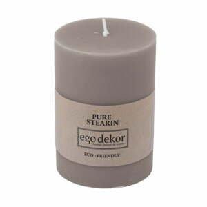 Béžovo-hnedá sviečka Baltic Candles Eco, výška 10 cm