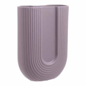 Fialová keramická váza InArt Elegant, výška 24 cm