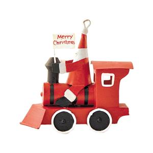 Vianočná dekorácia G-Bork Santa in Red Train