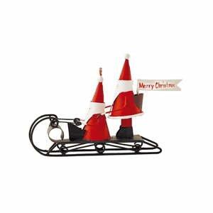 Vianočná dekorácia G-Bork Santas on Sledge