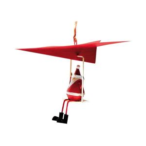 Vianočná závesná ozdoba G-Bork Santa in Airplane