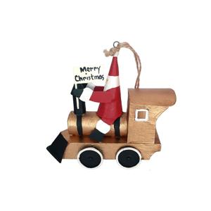 Vianočná závesná ozdoba G-Bork Santa on Goldtrain