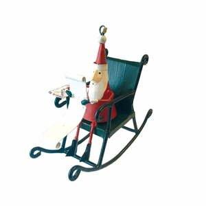 Vianočná závesná ozdoba G-Bork Santa in Rocking Chair