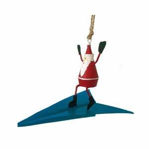 Vianočná závesná ozdoba G-Bork Santa on Airplane