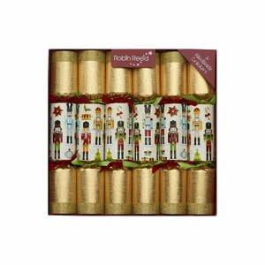 Súprava 6 vianočných crackerov Robin Reed Traditional Nutcracker